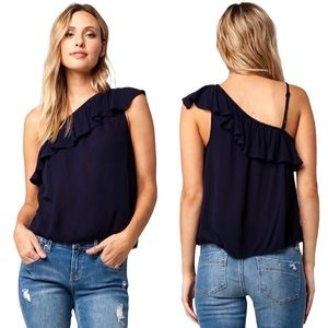 PATRONS OF PEACE | One Shoulder Blouse Top